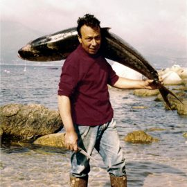 Sauro Mortula di ritorno dalla pesca