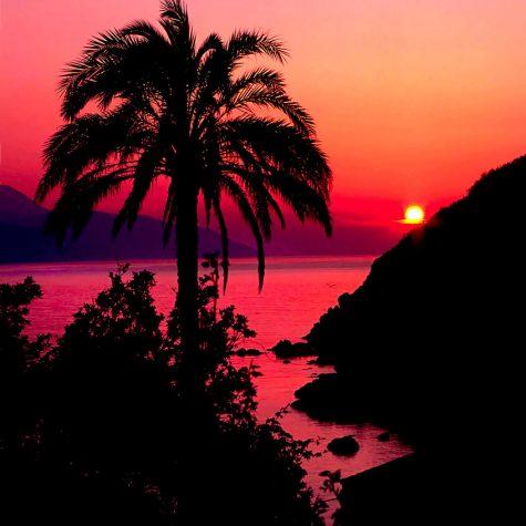 Un tramonto spettacolare